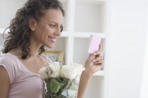 Woman Receiving Roses